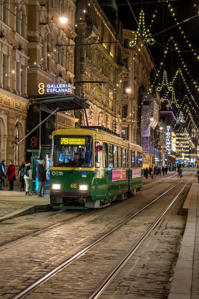 Tramwajem przez Helsinki